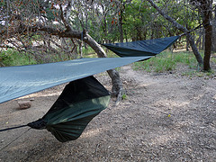 Camping hammocks,Outdoor Hammocks,Camping hammocks hanging in the trees.