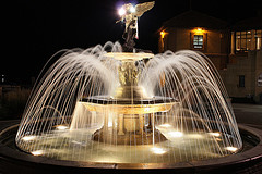Superior ... Backyard Water Fountains, Lighted Patio Fountain,fountain With Lights  And Statue On Top.