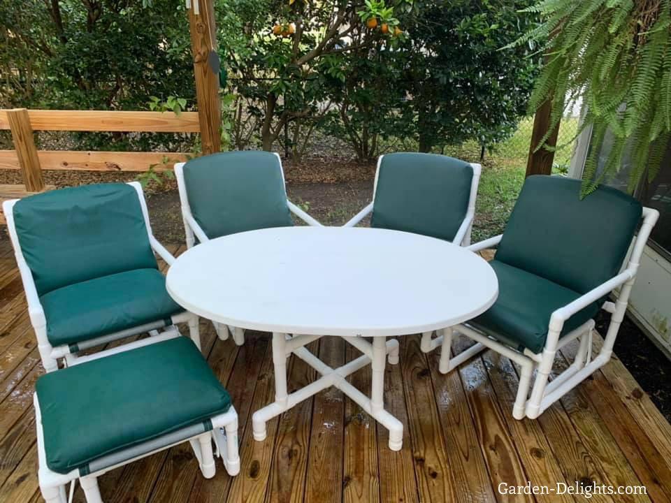 Own Pvc Patio Furniture Garden Delights, Pvc Patio Furniture