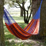 XXL Mayan Autumn Stripe Thick String Hammock:Super comfortable, lightweight, easy to store.