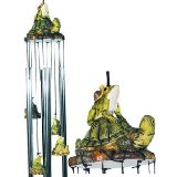 Musical Wind Chime Round Top Frog Turtle Hanging Garden Porch Decoration Decor.