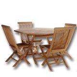 TEAK Outdoor Dining Chairs/Table Sets and Patio Furniture Octagon Table Set.