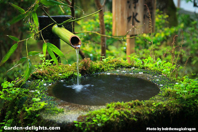 Japanese water fountains oriental magic of harmony with for Japanese bamboo water feature